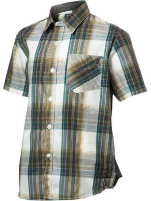 Volcom Ex Factor Button-Down Plaid Shirt - Short-Sleeve - Boys' , M