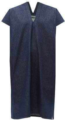 MM6 MAISON MARGIELA V Neck Raw Denim Dress - Womens - Denim