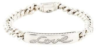 David Yurman Diamond Petite Pavè Curb Link 'Love' ID Bracelet