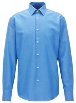BOSS Hugo Birdseye Cotton Dress Shirt, Regular Fit Enzo 14.5 Blue