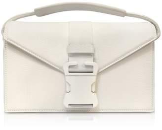 Christopher Kane White Grained Leather Devine Og Bag