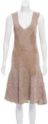 Philosophy di Alberta Ferretti Rib-Knit Midi Dress