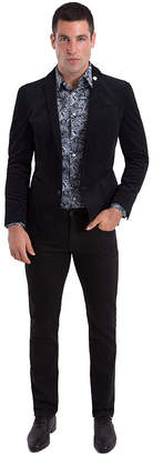 Asstd National Brand Nick Graham Black Houndstooth Woven Sport Coat Slim Fit