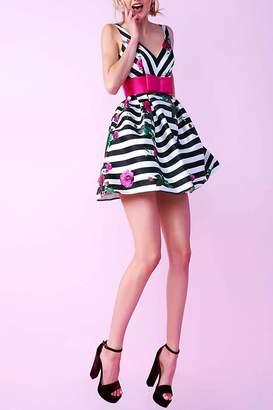 Mac Duggal Pink Bow Dress