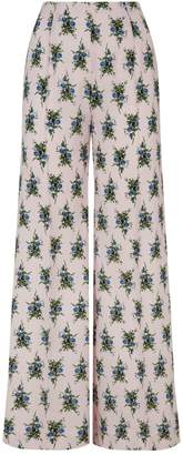 Emilia Wickstead Giovanna Floral Trousers