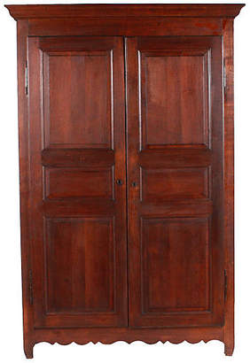 One Kings Lane Vintage C.1920 Monumental French Armoire - Blink Home Vintique