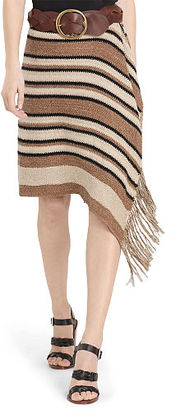 Polo Ralph Lauren Fringe-Trimmed Knit Wrap Skirt $398 thestylecure.com
