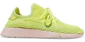 adidas Deerupt Suede-trimmed Neon Mesh Sneakers