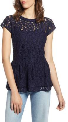 Halogen Lace Flutter Top