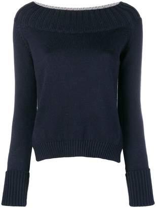 Zanone two-tone sweater