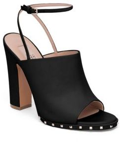 ValentinoValentino Soul Rockstud Leather Ankle-Strap Mules
