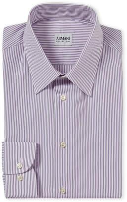 Armani Collezioni Purple Stripe Dress Shirt