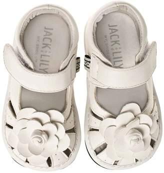 Jack & Lily Flower Sandal - White, Size 30-36m