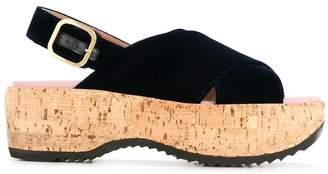 Marni criss-cross wedge sandals