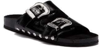 Fergalicious Louie Buckle Slide Sandal