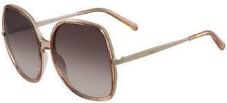 Chloé Oversized Square Metal Sunglasses