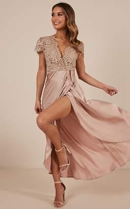 Showpo Kiss of True Love dress in mocha - 6 (XS) Dresses