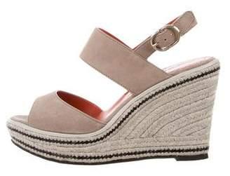 Santoni Suede Wedge Sandals