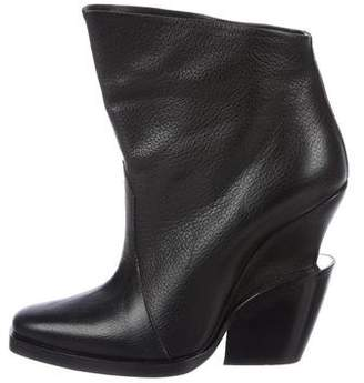 Theyskens' Theory Leather Ankle Booties
