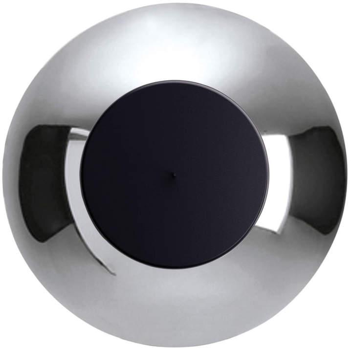 Lunaire LED Wandleuchte, Aluminium poliert / schwarz