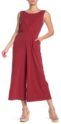 &.Layered Sleeveless V-Back Jumpsuit