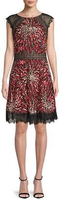 Tadashi Shoji Women's Animal Print Fit-&-Flare Dress
