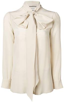 Gucci bow-neck ladybug buttons blouse