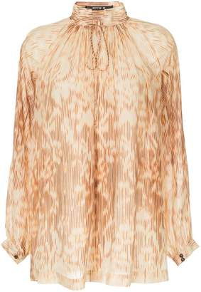 Kitx Ikat printed mock neck blouse