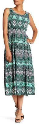 Nine West Sleeveless Tier Midi Dress