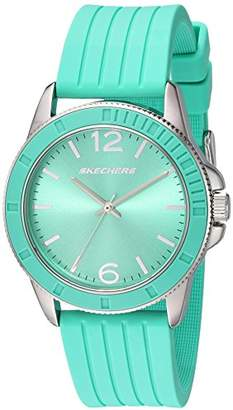 Skechers Women's Wollacot Quartz Metal and Silicone Casual Watch