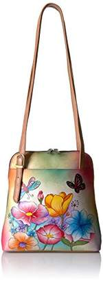 Anuschka Anna by Genuine Leather Zip Around Satchel | Hand-Painted Original Artwork |