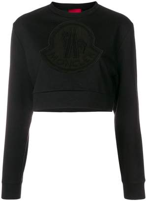 Moncler sheer logo patch sweatshirt