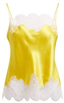 4c92d2933c84e Carine Gilson Lace Trimmed Silk Satin Camisole - Womens - Yellow