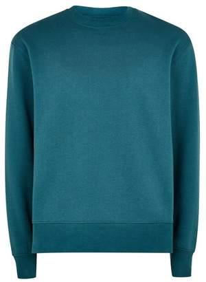 Topman Mens Green Teal Classic Sweatshirt