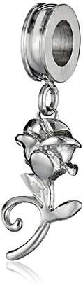 Disney Stainless Dangle Rose Bead Charm
