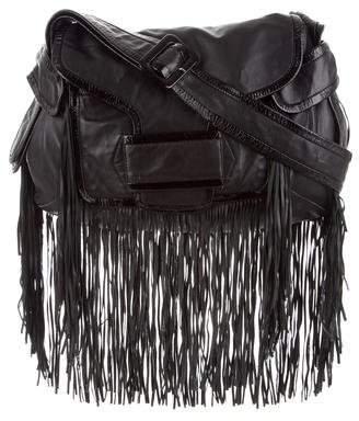 Pierre Hardy Leather Fringe-Trimmed Crossbody Bag
