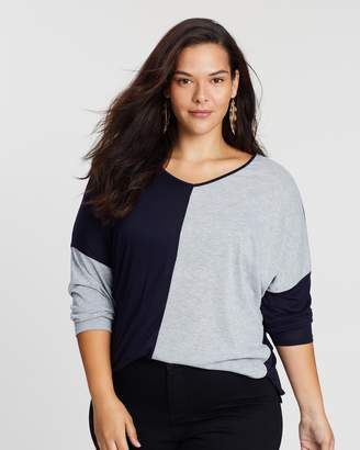 Evans Colour Block Top