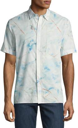 Antony Morato Marbled Short-Sleeve Sport Shirt