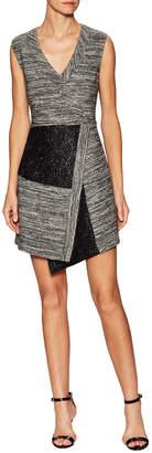 Rachel Roy Intarsia Asymmetric Lace A Line Dres