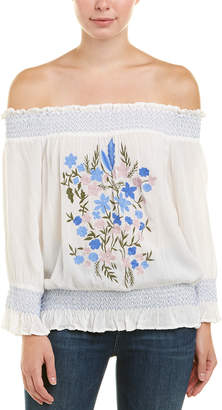 Willow & Clay Embroidered Top