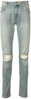 Represent distressed skinny-fit jeans