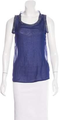 Bottega Veneta Sleeveless Silk Top w/ Tags