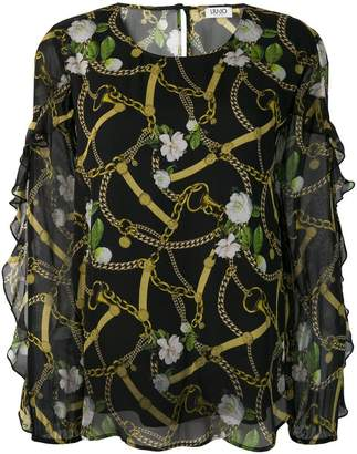 Liu Jo baroque and floral print blouse