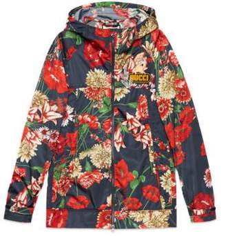 Gucci Spring bouquet nylon jacket