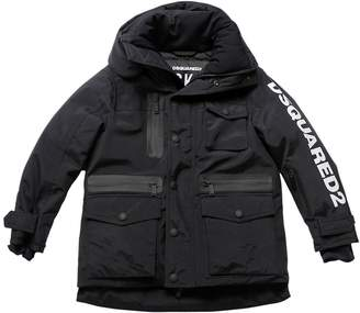 DSQUARED2 Logo Printed Nylon Down Ski Jacket
