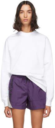 Alexander Wang White Dry French Terry Sweatshirt