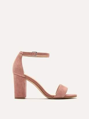 Wide Suede Heeled Sandals
