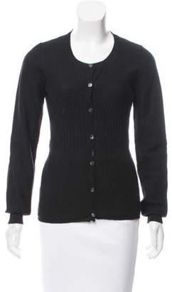 Marni Knit Scoop Neck Cardigan Black Knit Scoop Neck Cardigan