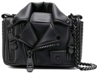 Moschino biker jacket crossbody bag
