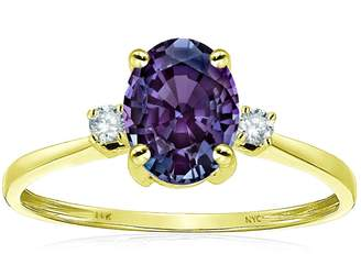 Stark Star K Oval 8x6mm Simulated Alexandrite Engagement Promise Ring 14kt Size 9